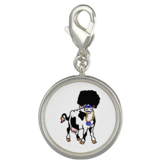 Afro Cow Charm