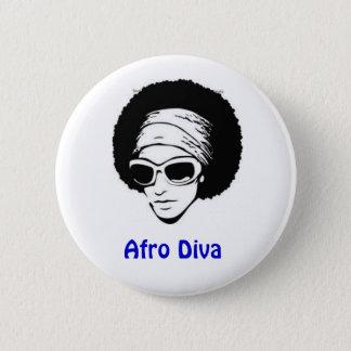 Afro Diva 2 Inch Round Button