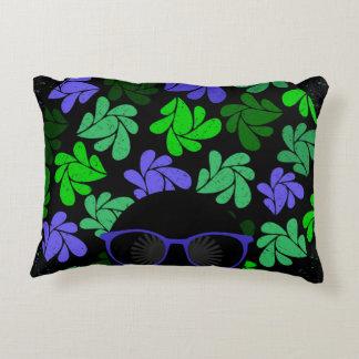 Afro Diva Green & Blue Accent Pillow
