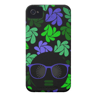 Afro Diva Green & Blue iPhone 4 Case-Mate Case