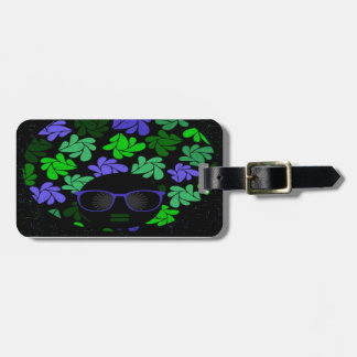 Afro Diva Green & Blue Luggage Tag