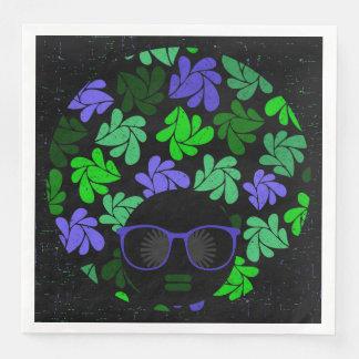 Afro Diva Green & Blue Napkins Disposable Napkin