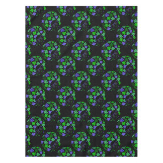 Afro Diva Green & Blue Tablecloth