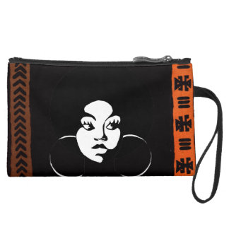 Afro Diva Sueded Clutch Wristlets