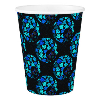 Afro Diva Teal Turquoise Party Supplies Paper Cup