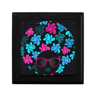 Afro Diva Turquoise & Hot Pink Gift Box