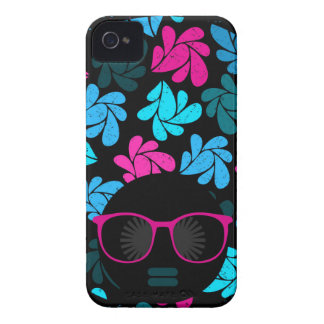 Afro Diva Turquoise & Hot Pink iPhone 4 Covers