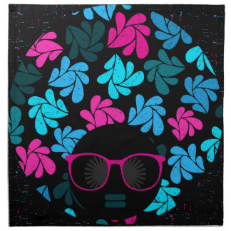 Afro Diva Turquoise & Hot Pink Napkin