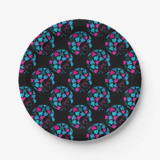 Afro Diva Turquoise & Hot Pink Party Supplies Paper Plate