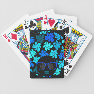 Afro Diva Turquoise Teal Bicycle Playing Cards