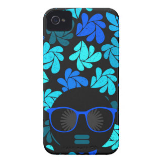 Afro Diva Turquoise Teal Case-Mate iPhone 4 Cases