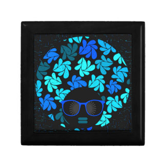Afro Diva Turquoise Teal Gift Box