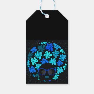 Afro Diva Turquoise Teal Gift Supplies Gift Tags