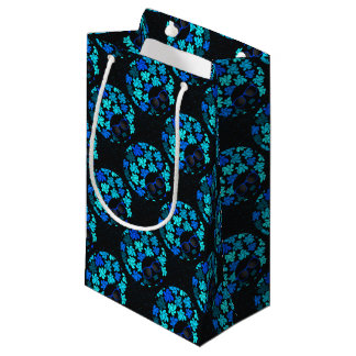 Afro Diva Turquoise Teal Gift Supplies Small Gift Bag