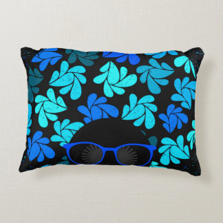 Afro Diva Turquoise Teal Home Decor Decorative Pillow
