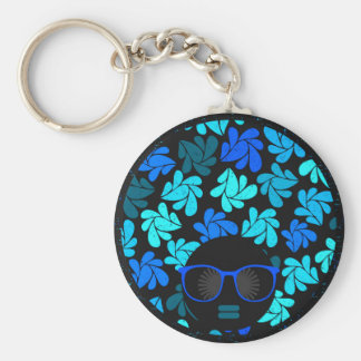 Afro Diva Turquoise Teal Keychain