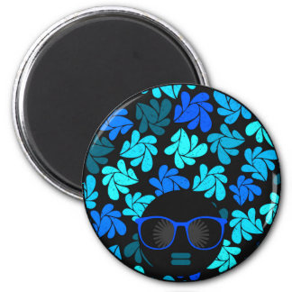 Afro Diva Turquoise Teal Magnet