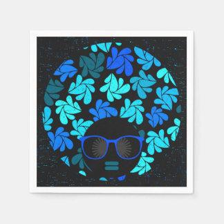 Afro Diva Turquoise Teal Napkins Disposable Napkin