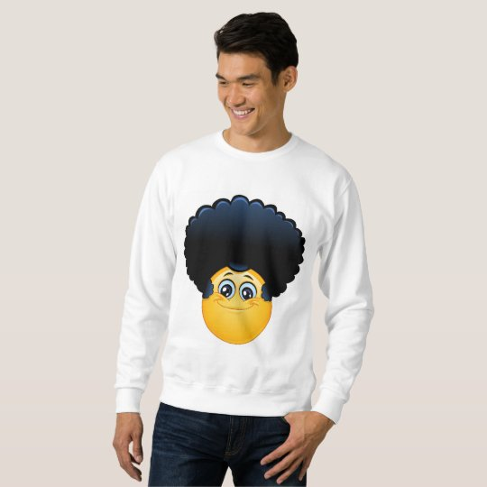 afro emoji mens sweatshirt
