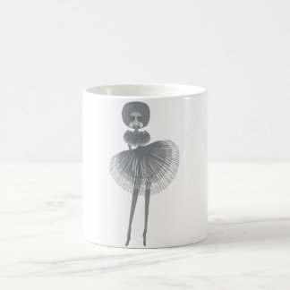 afro fashion girl coffee mug