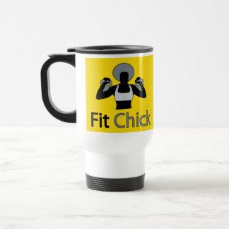 Afro Fit Chick Travel Mug
