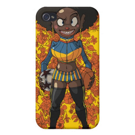 Afro Girl iPhone 4 Covers