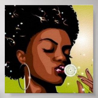 afro girl poster