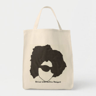 Afro Glasses Grocery Tote