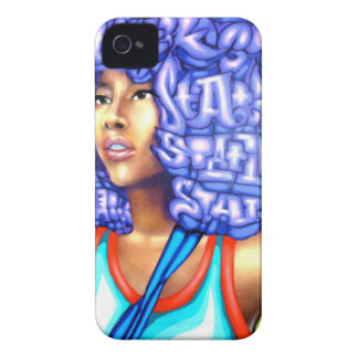 Afro Glow but leave u Blue, she will iPhone 4 Cover