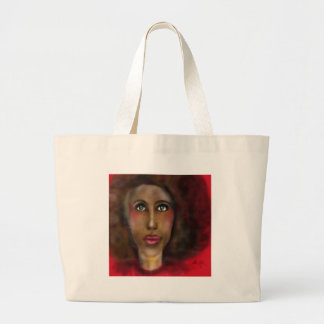 afro lady large tote bag