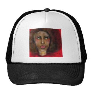 afro lady trucker hat