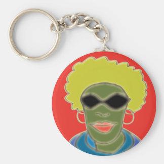 Afro-Left Keychain