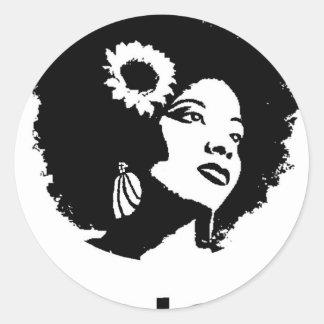 Afro Love Classic Round Sticker