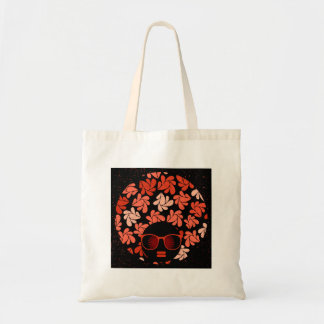 Afro Love Coral Red Pillow Tote Bag