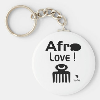 Afro Love with  DUAFE Basic Round Button Keychain