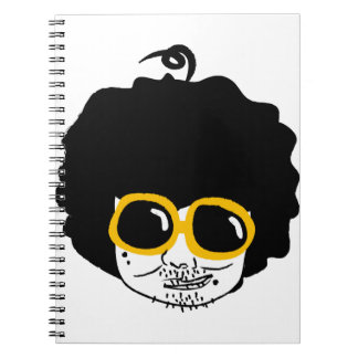 afro man spiral notebook