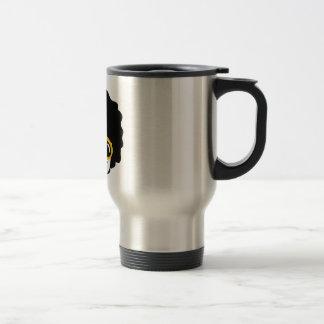 afro man travel mug