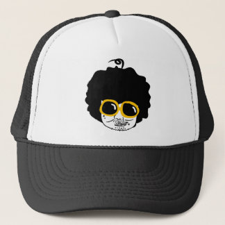 afro man trucker hat