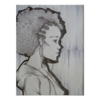 Afro Portrait Poster