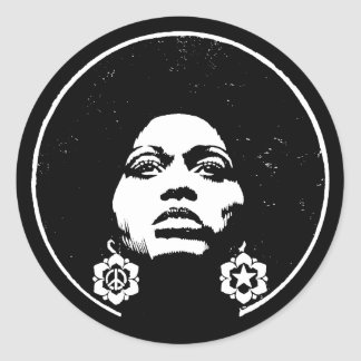 Afro Power Classic Round Sticker