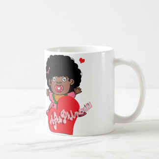 Afro princess coffee mug