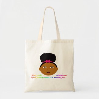 Afro puff tote budget tote bag