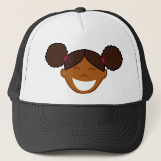 Afro Puffs Girl Face Trucker Hat