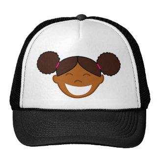 Afro Puffs Girl Face Trucker Hat