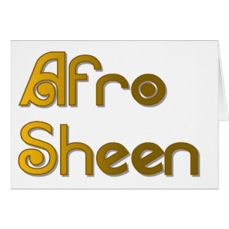 Afro Sheen Sist- gold Card