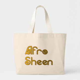 Afro Sheen Sist- gold Large Tote Bag