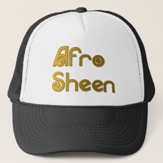 Afro Sheen Sist- gold Trucker Hat