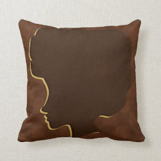 Afro Silhouette American Mojo Throw Pillow