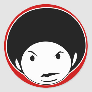 Afro style stickers