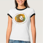 Afrobella Large Logo Ringer 2 - Customized T-Shirt